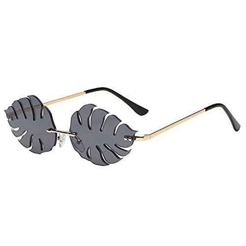 FACHA Gafas de sol unisex sin montura retro steampunk gafas Street hip hop accesorios de fiesta (color: negro, tamaño: M)