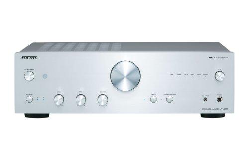 Onkyo A-9030-S - Amplificador esterero integrado (65 W por canal, 5 entradas analógicas) color plata