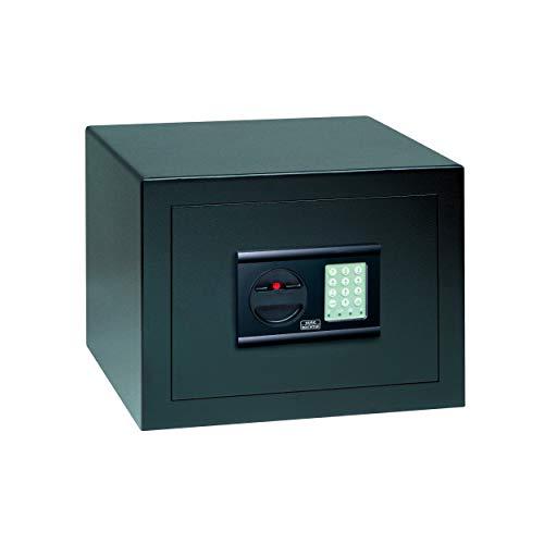 BURG-WÄCHTER Caja fuerte con cerradura electrónica, Home Safe, Nivel de seguridad B, Antincendios DIN 4102, VdS, Certificación ECB-S, 20,6 l, 30 kg, H 210 S, Negro