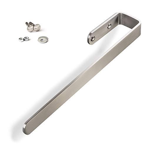Handtuchhalter PAN für Schrankmontage/echt Edelstahl gebürstet/Länge: 340 mm/Breite: 60 mm/Höhe: 30 mm/Materialstärke: 5 mm/Tuchhalter Handtuchreling Handtuchstange von SO-TECH®