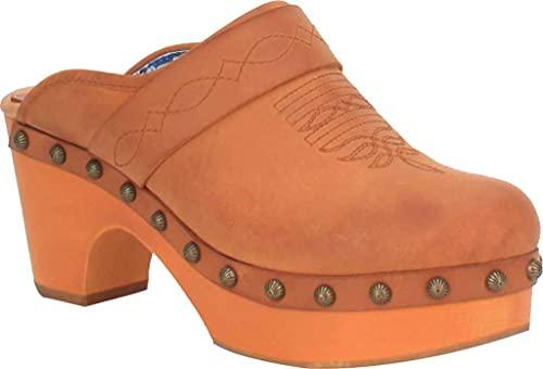 Dingo Women's Latigo Clog Shoes Tan 8 M