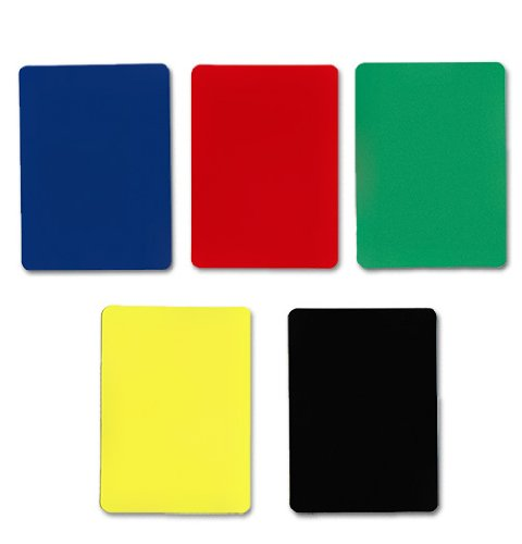 Brybelly Poker Size Cut Cards-Pack of 5, Assorted Color