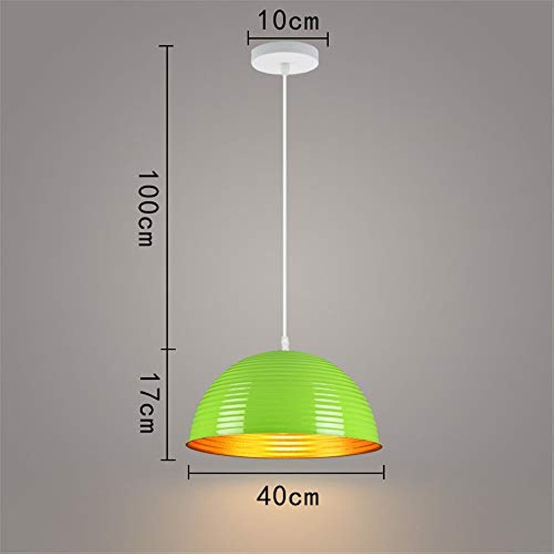 Moderne, Einfache Grüne Single Head Kreative Schreibtisch Halbrunden Retro 40 Cm Decke Pendelleuchte Für Bar Cafe Restaurant Schlafzimmer Wohnzimmer Esszimmer Küche