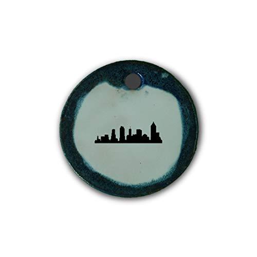 """Muy bonito colgante de cerámica """"Atlanta"""" jaspeado en azul;"""