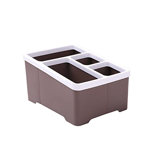 wuwu Japón estilo plástico mesa de almacenamiento de escritorio control remoto teléfono caja de clasificación caja de almacenamiento de oficina caja de almacenamiento Sundies organizador de oficina