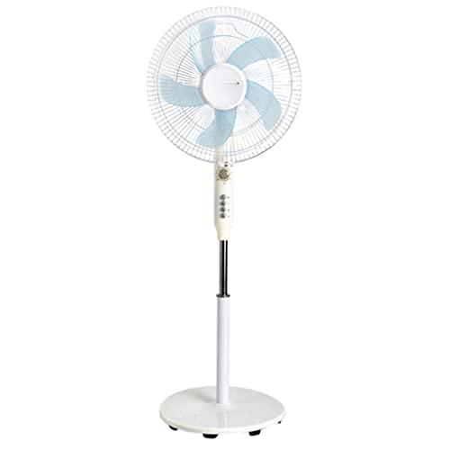 Ventilador de Pedestal Fanáticos de pie con Temporizador 90 ° Ancho Ventilador oscilante con 4 velocidades silenciosas y 5 Cuchillas para Dormitorio Interior y Oficina en casa Ventilador de pie