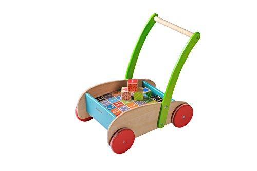EverEarth EE33721 Kinderlauflernwagen aus Holz mit Blöcken