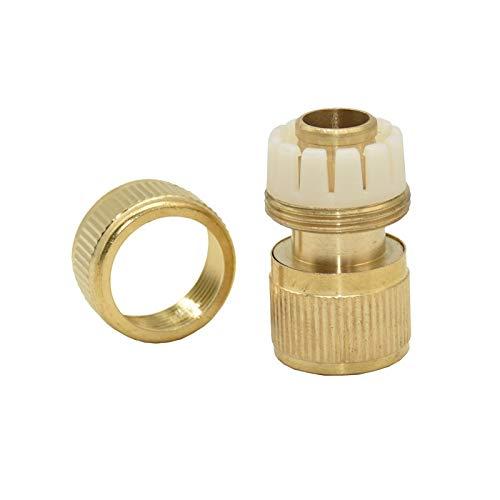 Zmaoyun-Tubos de latón Conector rápido de la manguera de agua de la manguera de agua de 5/8 pulgadas de latón Adaptador de cobre puro de la manguera del conector de la manguera, 6pcs, Material de lató