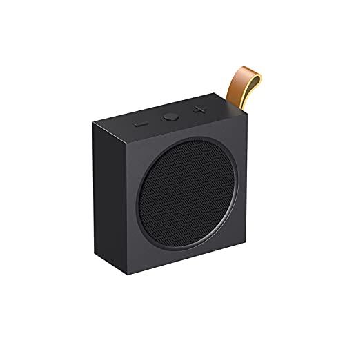 GUOOO Altavoz Bluetooth, Fácil de Transportar, Bluetooth 4.2 Efecto estéreo, Adecuado para el hogar, Viajes, al Aire Libre, etc. 11.2 × 12.2 × 4.8cm Black
