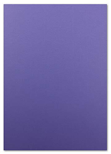 50 Blatt TonKarton DIN A4 - Farbe: Lila -Ton-Papier 220 g/m² gerippte Oberfläche - Ton-Zeichen-Papier Bastel-Papier Bastel-Karton - Glüxx-Agent