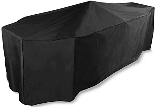 Bosmere Protector 6000 Storm Black 8 Seat Rectangular Patio Set Cover - Black, D535