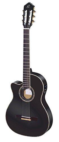 Ortega RCE145LBK - Guitarra electroacústica (abeto y caoba, para zurdos) color negro, completo