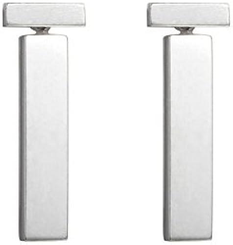 BAGEHAN 925 Silber Geometrie Ohrstecker Einzigartige Ohrringe, A