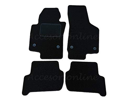 Accesorionline Alfombrillas para Seat Leon II 2005-2012 Incluido restyling - A Medida - Refuerzo en talonera - Alfombras1p