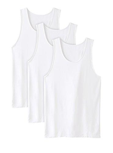 DAVID ARCHY Chalecos para hombre Micro Modal/Bamboo Rayon/Cotton Undershirts con Ultimate Soft 2/3/4 Pack de ropa interior de manga corta Chalecos