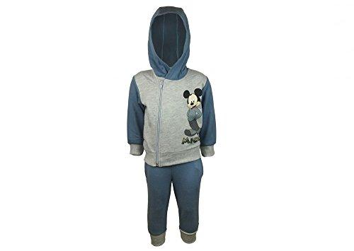 Kleines Kleid Kleines Kleid Jungen Mickey Mouse Sport-Anzug zweiteilig GRÖSSE 68, 74, 80, 86, 92, 98, 104, 110, 116, Jogging-Anzug mit Hoodie/Kapuzen-Pulli, Freizeit-Anzug Farbe Blau, Größe 68