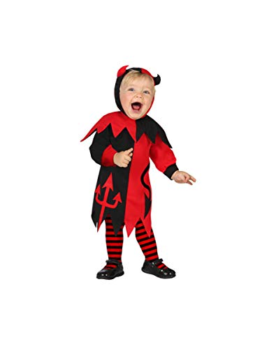 Atosa-39565 Disfraz Demonio para Niña Bebé, color rojo, 6 a 12 meses (39565)