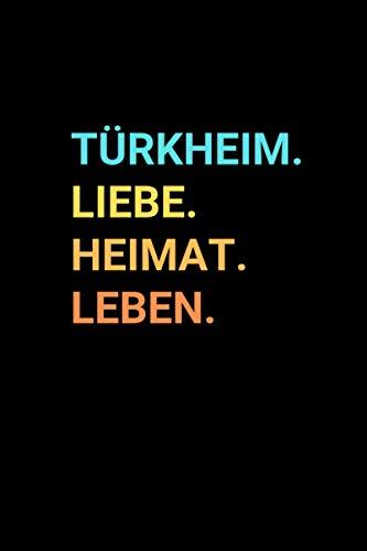 Türkheim: Notizbuch, Notizblock, Notebook | Punktraster, Punktiert, Dotted | 120 Seiten, DIN A5 (6x9 Zoll) |...