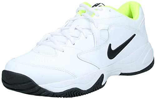 Nike Court Lite 2, Zapatilla de Tenis para Hombre, Blanco/Negro/Volt, 44.5 EU
