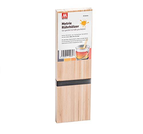 Metrie™ hochwertiges Rührholz | Holzspatel | Farbrührspatel (26 x 1,6 cm) geeignet zum Rühren von Farbe, Lack oder Bastelholz zum Basteln (25)