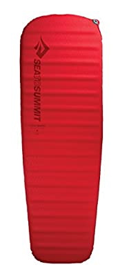 Sea to Summit Comfort Plus Si Mat - Large - Self-Inflating Camping & Backpacking Sleeping Mat, Red