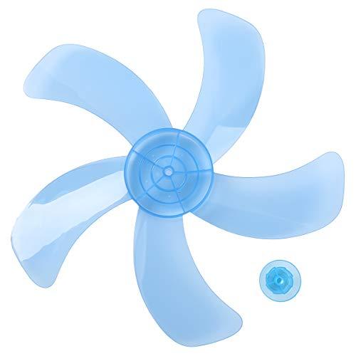 iEFiEL 5Piezas 16 Inches Aspas Hojas Plásticas de Ventilador para Ventilador de Techo Ventilador de Pie Ventilador de Mesa Repuestos Ventilador Azul 16 Inch