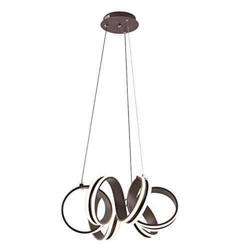 Lámpara colgante de luz LED moderna, acrílico, espiral, araña, lámpara colgante LED, apliqúese a la sala de estar contemporánea Dormitorio Comedor XYJGWDD