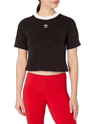 adidas Originals Women's Cropped Top, Black/White, L