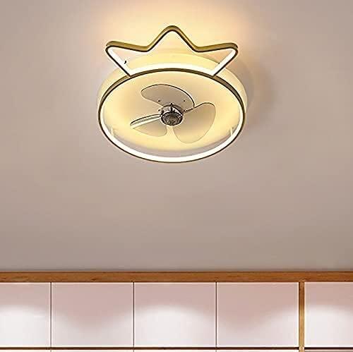 Bermnn DIRIGIÓ Fan de los niños con Control de la luz del Techo 3 velocidades Dormitorio Dimmable Fan Luz de Techo con Temporizador Moderno Sala de Estar Ventilador de Techo silencioso Luz