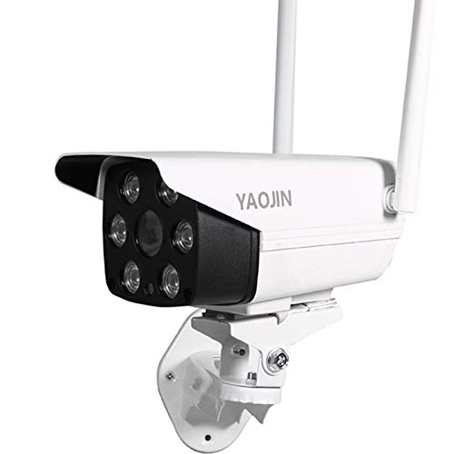 YAOJIN F18 WiFi Wireless 2MP 1080p HD Waterproof Outdoor IP Security Camera CCTV with 4 LED Flood...