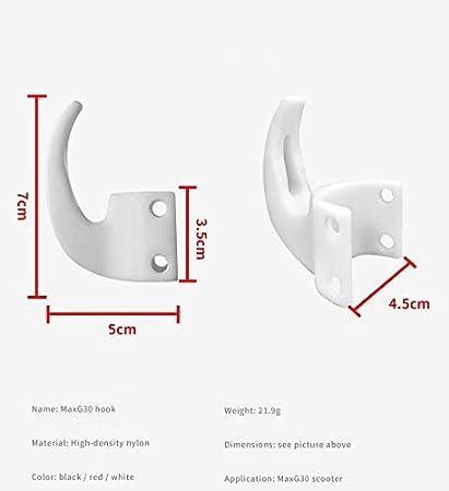 Zubehör Segway Ninebot MAX G30 G30D Haken für Einkaufstaschen ABS Schwarz