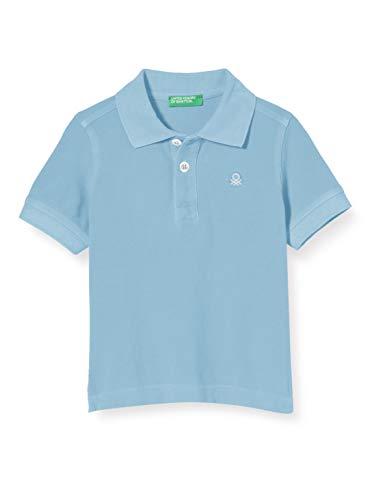 United Colors of Benetton Baby-Jungen Maglia Polo M/m Poloshirt, Türkis (Dusk Blue 29j), 80/86 (Herstellergröße: 1y)