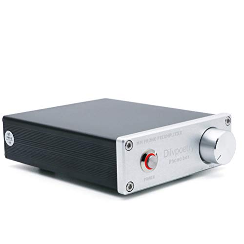 Dilvpoetry Phono Box MM Phono Preamp Preamplifier Amp HiFi Turntable