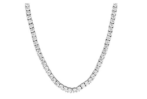 NEW 1 Row Tennis Necklace 20 Inch Silver Finish Lab, No Color, Size No Size