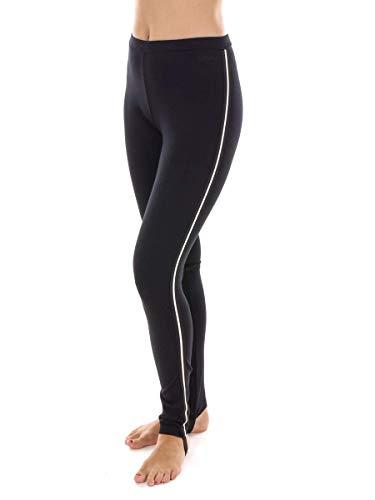 CMP Short de Course Pantalon à Courir Femme Long Pantalon Noir Élastique Plaine - 46