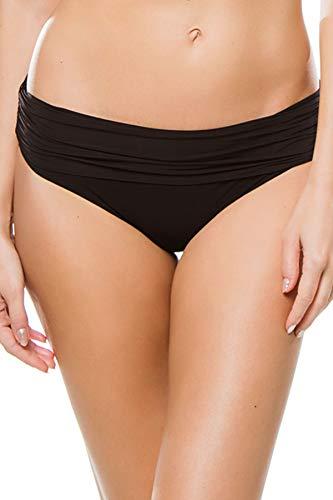 Heidi Klein Women's Body Ruched Banded Hipster Bikini Bottom Black S