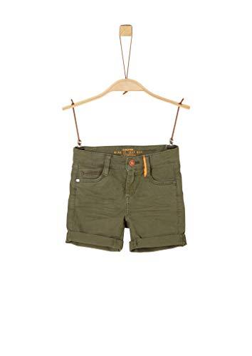 s.Oliver 404.10.004.18.180.2038235 Pantalones Cortos, 7843 Green, 98 cm para Niños
