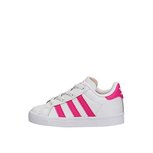 adidas Coast Star EL I Chaussures DE Sport pour Fille Blanc EE7509 25 EU