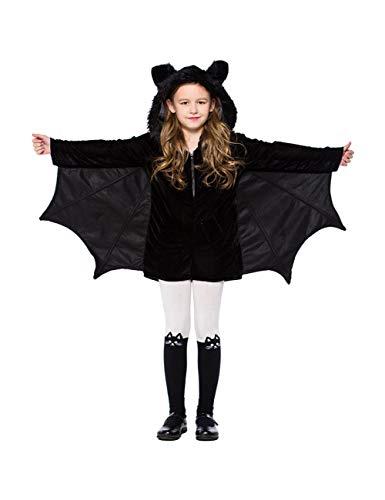 Disfraz de Halloween para Mujer Irregular Gothic Black Cosplay Ropa para niña Loose Fancy Party Suit Cute Kid Clothes