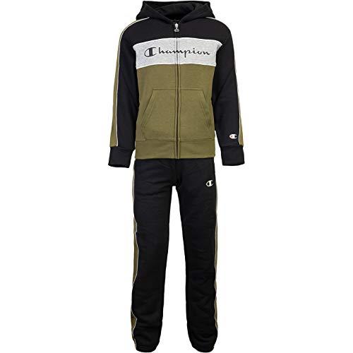 Champion Tricolor Kids Track Suit Trainingsanzug (S, Black/Olive)