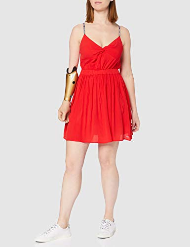 Tommy Jeans TJW Essential Strap Dress Vestido, Carmesí Profundo, L para Mujer