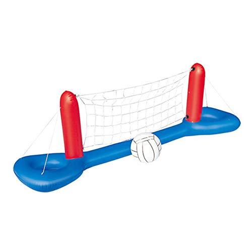 Fanville Juego de balonmano inflable para piscina, juego con red y pelota, para adultos y niños