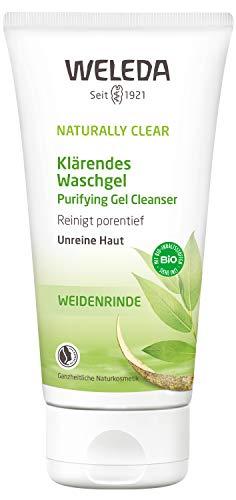 WELEDA Naturally Clear Klärendes Waschgel, Naturkosmetik bei Pickeln und unreiner Haut, Gesichtsreinigung und Gesichtspflege für die Mischhaut, bekämpft Hautunreinheiten (1 x 100 ml)