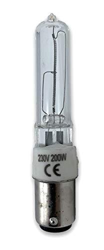 Ba15d B15d Halogenlampe Ceramik 200W 230 Volt Klar Ersetzt 64499 und 64479