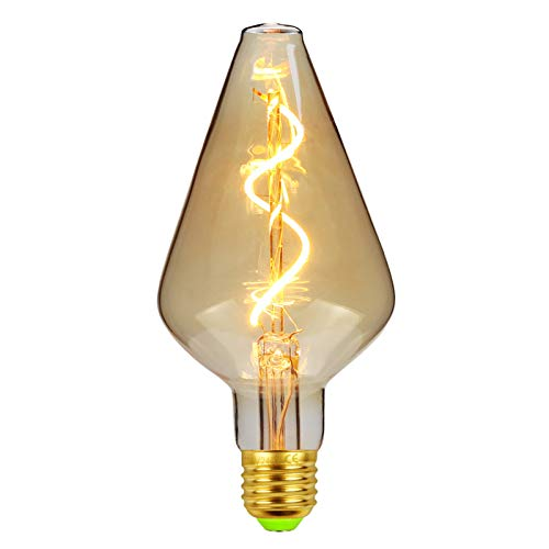 NAYOU Led Bulbs Vintage Light Bulb 4W Amber Dimmable 220V E27 Edison Bulb Led Filament Bulb, Decorative Ligth Bulb Warmth (Vase) [Energy Class A++]
