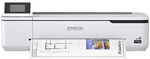 Epson SureColor SC-T3100N Tinten-Großformatdrucker für CAD/GIS/POS (Drucke bis DIN A1+, Rollendrucke bis 24 Zoll (61 cm/A1+), WiFi, Ethernet) weiß