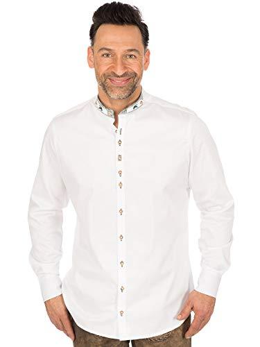 Orbis Trachtenhemd Slim Fit Stehkragen 320006-3334 Weiss, M