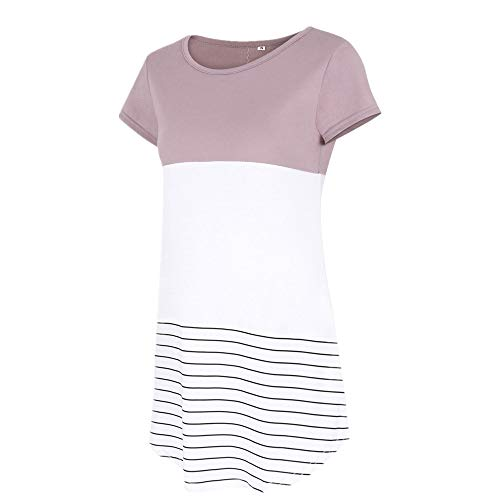 Morton PegfwaS Damen Rundhalsspitze, gestreiftes T-Shirt
