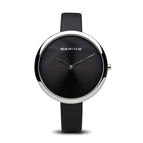 BERING Damen Analog Quarz Uhr mit Leder Armband 12240-602