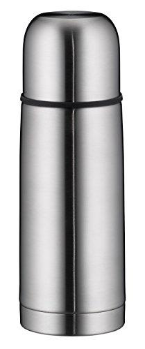 alfi Thermoskanne Edelstahl isoTherm Eco, Trinkflasche auslaufsicher, Edelstahl mattiert 500ml, Isolierflasche mit Trinkbecher 5457.205.050 Drehverschluss, Thermosflasche 12 Stunden heiß
